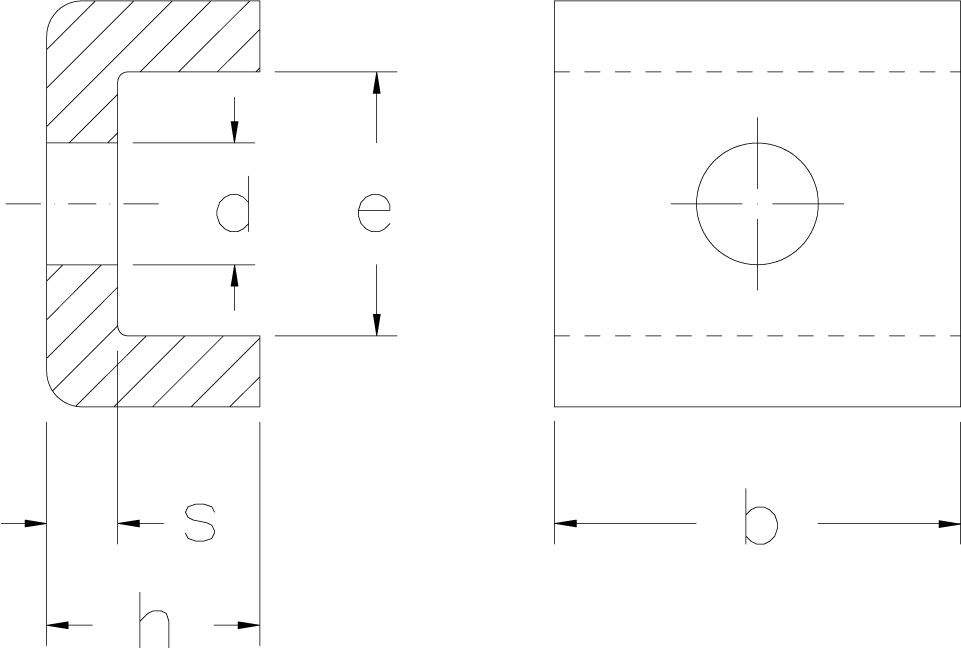 Locking clips with screws technical drawing
